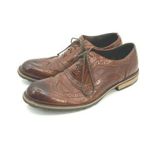 Steve Madden Persey Brown Leather Wingtip Oxford